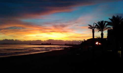 marina di ragusa sunset evening