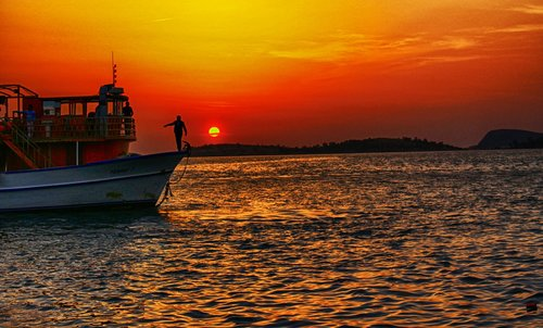 marine  sunset  izmir