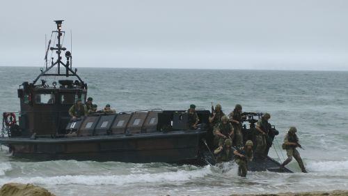 Marines Going Ashore