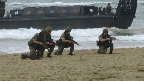 Marines On The Beach