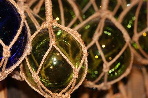 maritime  glaskugeln  maritime decoration