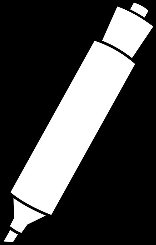 žymeklis,rašiklis,veltinio rašiklis,biuras,mokykla,reikmenys,nemokama vektorinė grafika
