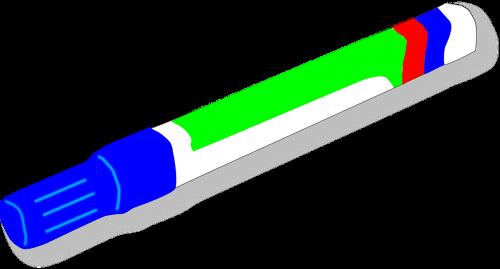 žymeklis,veltinio rašiklis,mėlynas,rašiklis,lentos žymeklis,biuras,nemokama vektorinė grafika