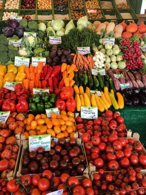 market vegetables healthy