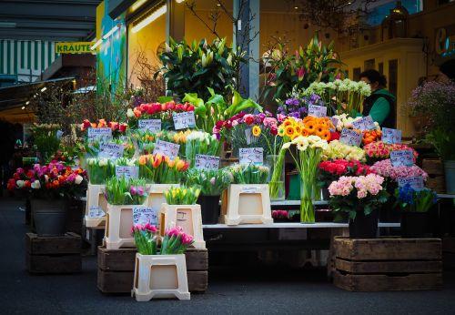 market flowers farmers local market