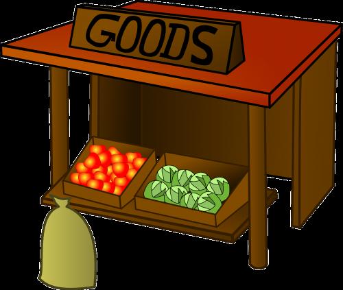 market goods stall