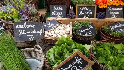market stand vegetables