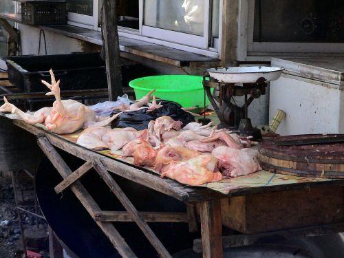 market chickens meat
