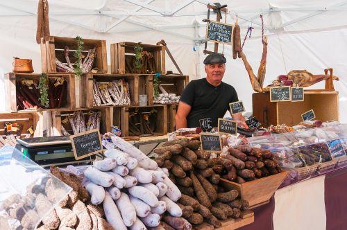 market stall sausage