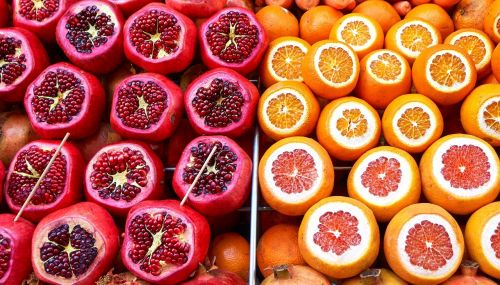 market fruit oranges