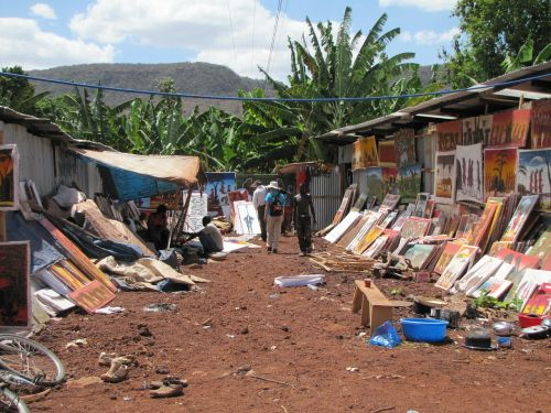 market tanzania paintings
