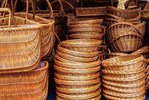 market  baskets  woven