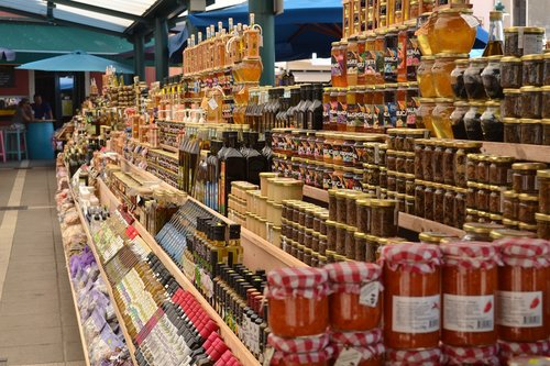 market  food  jars