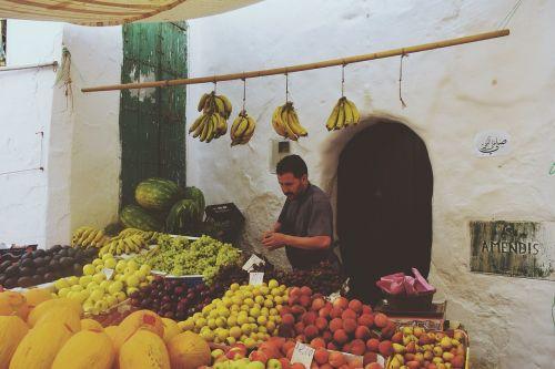 market stall seller
