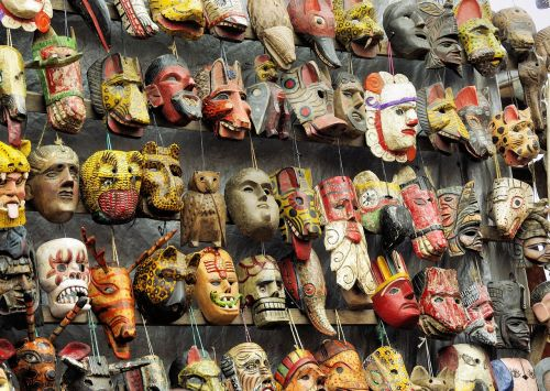 market ethnic masks