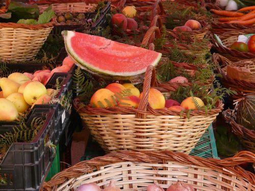 market fruits melon