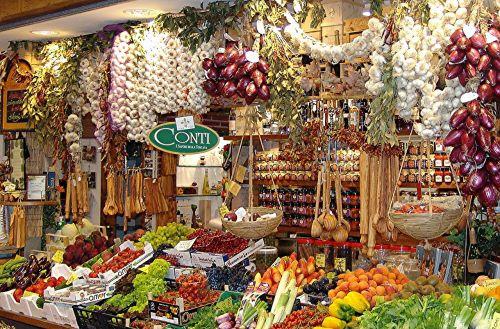 market hall stand vegetables