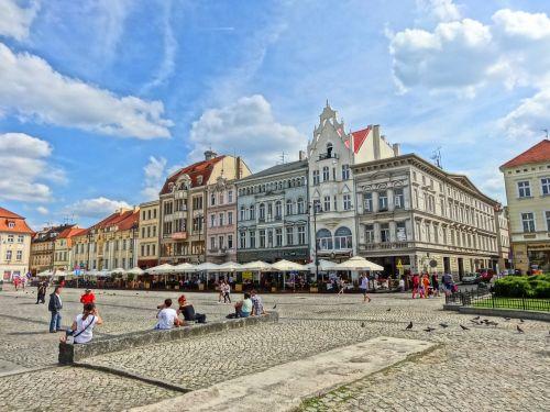 market square bydgoszcz facades