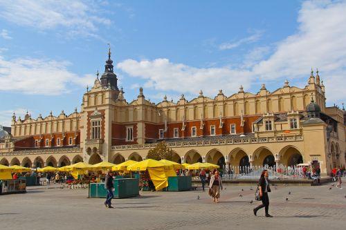 market square picturesque view