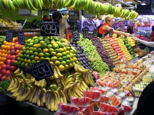 market stall fruit vitamins