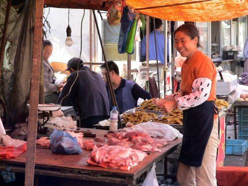 market woman woman china