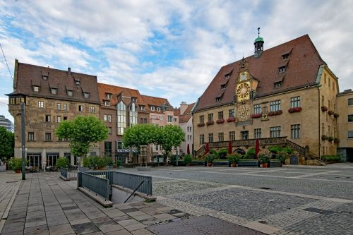 marketplace old town hall heilbronn