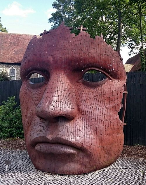 marlowe mask canterbury mask sculpture