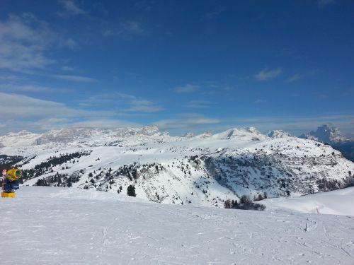 marmolada snow landscape