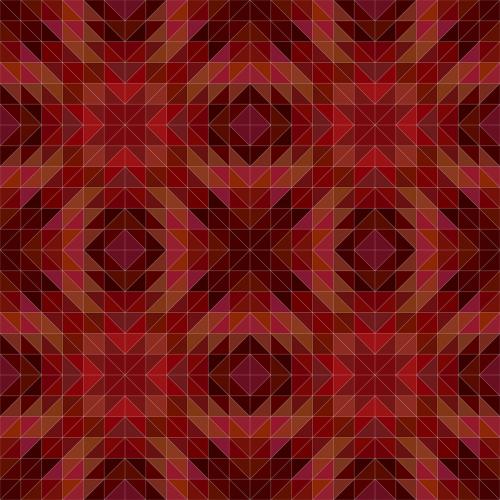 maroon triangle pattern
