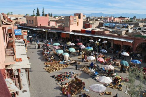 marrakech souk morocco