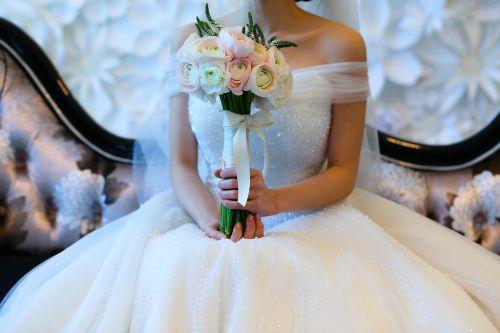 marriage bouquet happy