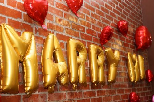 marry balloons marriage proposal