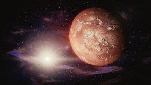 mars sun solar system