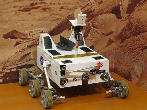 mars rover robot exhibit