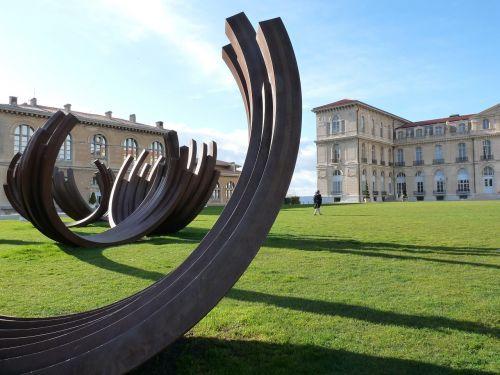 marseille the pharo park sculptures bernard venet