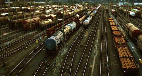 marshalling yard  germany  trains