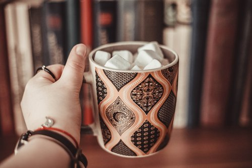marshmallow  book  cup
