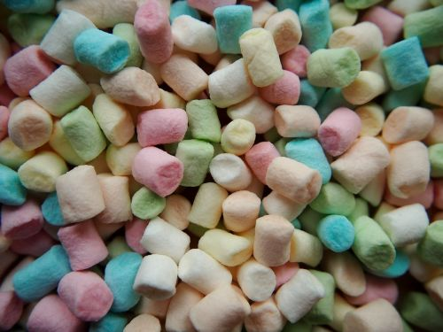 marshmallows colorful candy