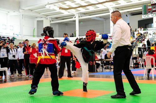 martial ates kick boxing combat