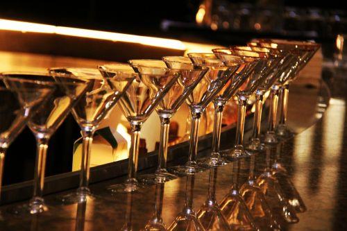 martini glass wine glass bar