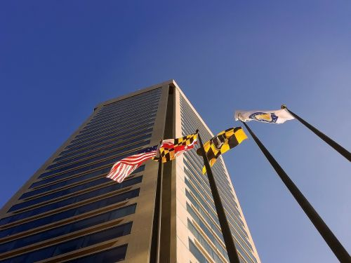 maryland flags world trade center