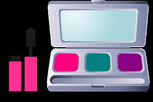 mascara compact mirror