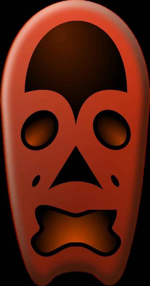mask red frightening