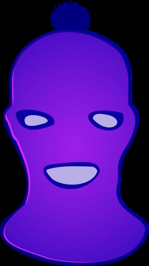 kaukė,violetinė,pussy,riaušės,nemokama vektorinė grafika