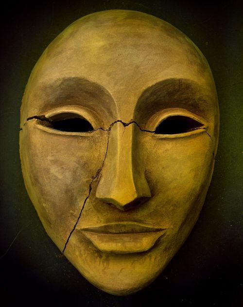 mask ceramic performing arts