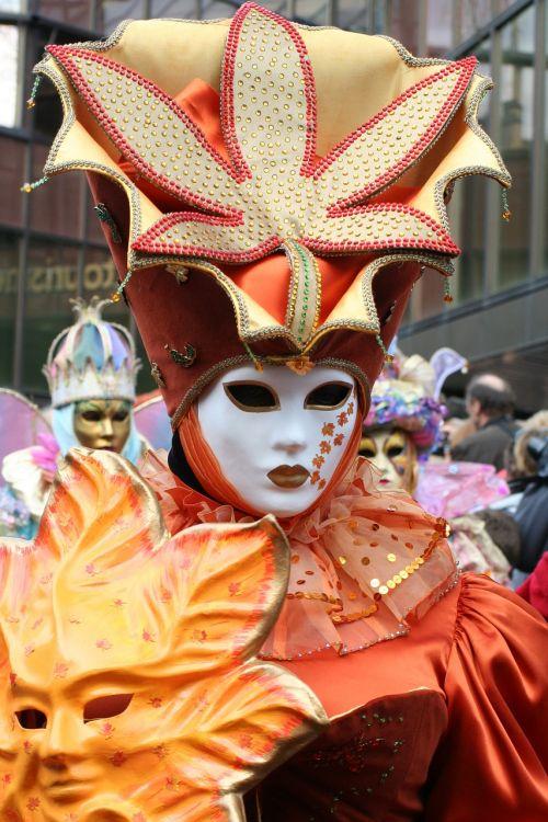 mask orange carnival