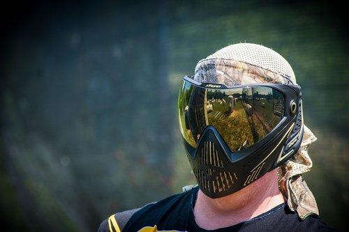 mask  paintball  lens