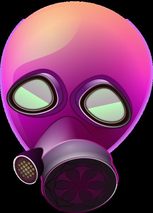 mask gas purple