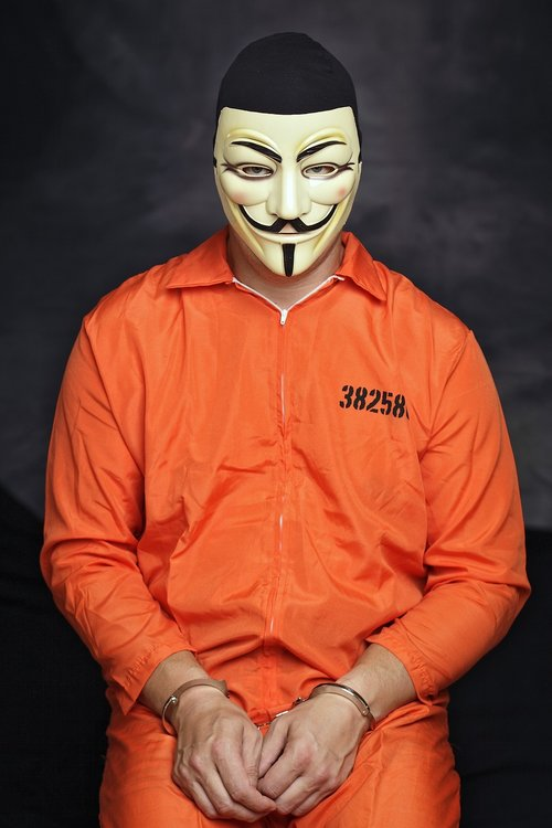 mask  an anonymous  hacker
