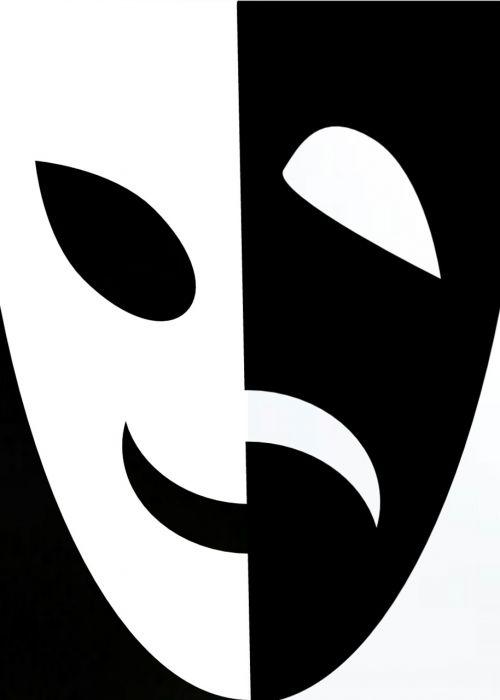 mask black white